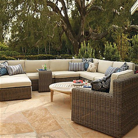 Hyde Park Modular Seating Set Contemporary Outdoor Frontgate Patio Furniture