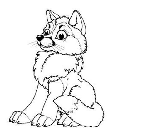 coloring pages of cute wolves baby wolf coloring pages to print coloring home