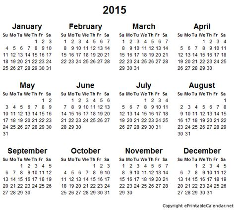 printable free yearly calendar 2015 free printable calendar 2018