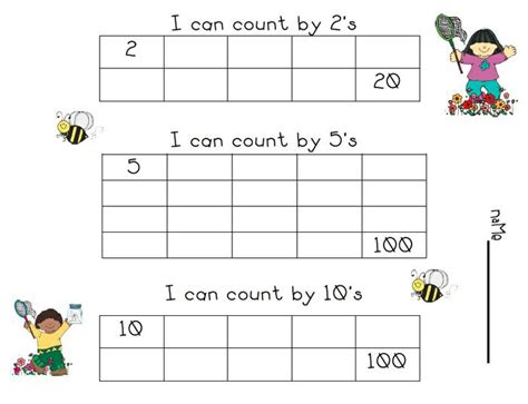 printable worksheets counting by 2 5 10 springtime skip count