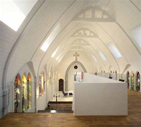 minimalist church conversion residence