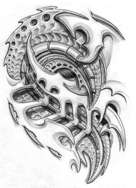 chest tattoo designs drawings biomechanical tattoos and designs page 86