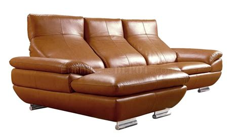 camel leather sectional 575 sectional sofa in camel leather by vig