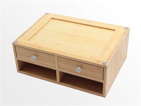 Desktop Printer Stand Bamboo Office Furniture Office Desk Top Printer Stand
