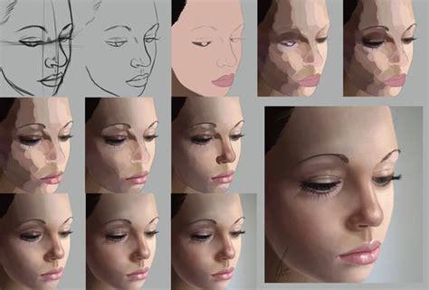 tutorial wpap skin tone digital painting photoshop process technique realistic