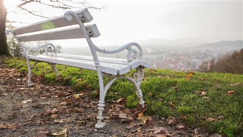 bench hill bench on the hill stock footage video shutterstock