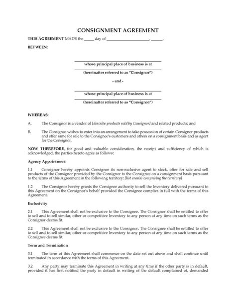 profit contract template free profit and loss spreadsheet and free consignment