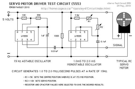 servo motor diagram servo motor test circuit references