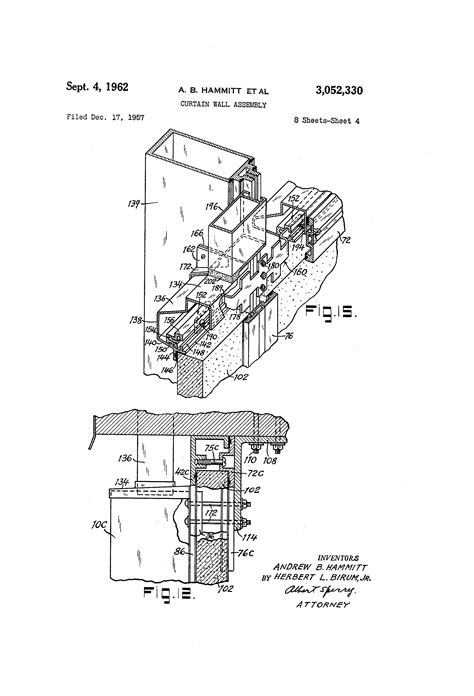 curtain wall assembly patent us3052330 curtain wall assembly google patentsuche
