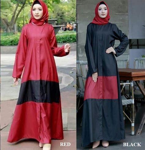 Gamis Monalisa Black Jumbo gamis baloteli polos abaya lamia baju muslim murah