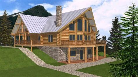 log cabin floor plans with basement log cabin floor plans with walkout basement