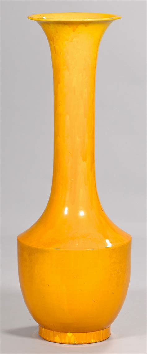 lot 395 floor size asian monochrome yellow vase