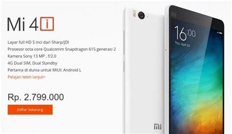 Detik Xiaomi Mi4i | harga xiaomi mi 4i di indonesia 2 8 juta flash sale