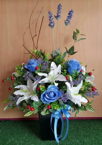 Bouquet Mawar Biru Bunga Mawar Biru rangkaian bunga meja plastik mawar biru putih di