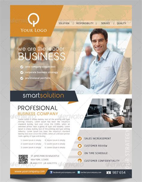 business flyer template free 19 business flyer templates