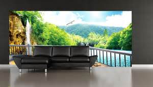 Wall Murals Outdoor 3d Outdoor Terrace Mountain3wall Wall Murals Wallpaper