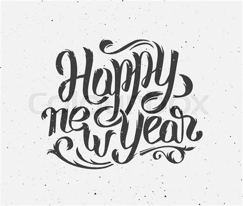 happy new year 2016 handmade greeting card design