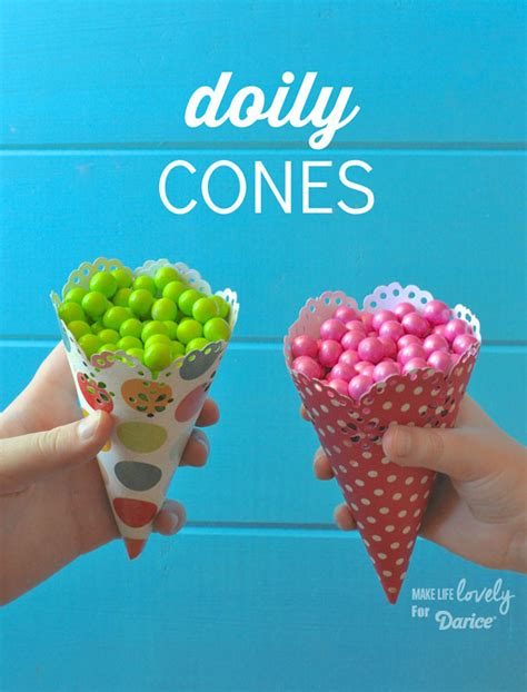 Make Paper Cones - how to make paper cones live craft