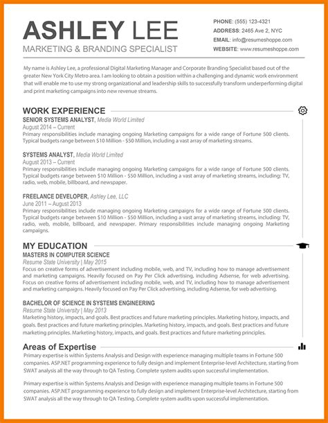 Typical Resume Outline 16 typical resumes mbta