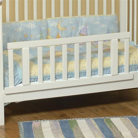 attaching crib to bed child craft toddler guard rail for logan lifetime