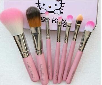 Lipstick Kotak 500 sets dhl pengiriman gratis hello kosmetik sikat set 7pcs kuas makeup set dengan kotak