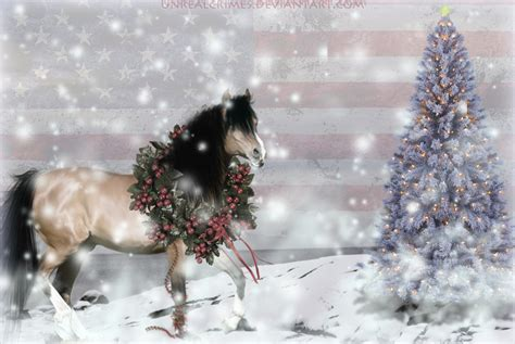 christmas wallpaper with horses christmas horse pictures