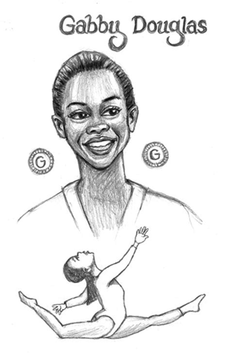 Gabby Douglas Free Coloring Pages Gabby Douglas Coloring Pages