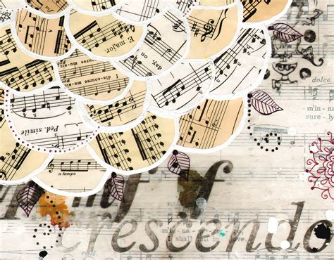 collage music musicbloom 11 x 14 paper print sheet music music notes