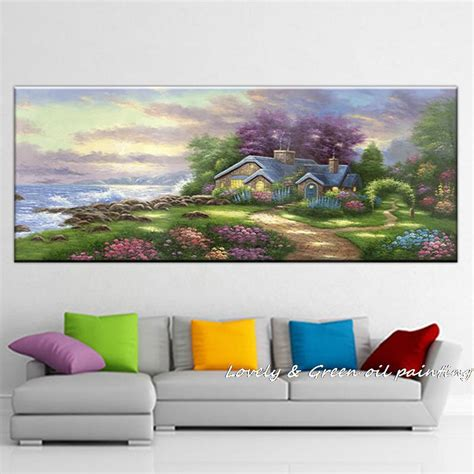 beautiful figure giclee kinkade landscape