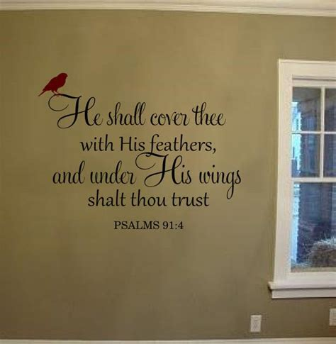 cover thee   feathers wall decal vinyl
