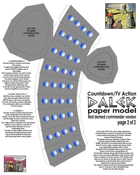 Dalek Papercraft - paper comic style dalek pt2 by gfoyle on deviantart