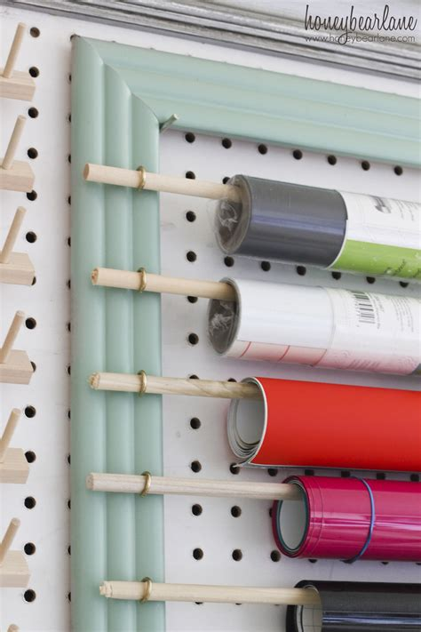 How To Store Craft Paper - framed large pegboard tutorial