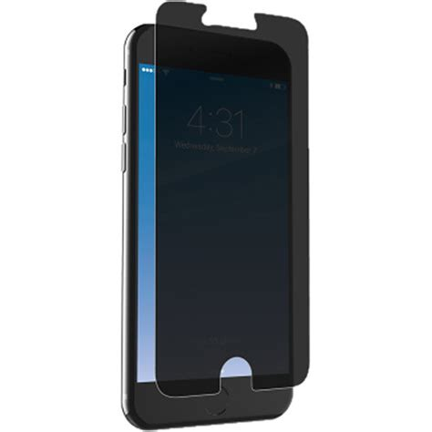 zagg invisibleshield glass privacy screen protector ip7gpc f00