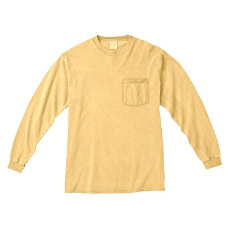 comfort contact number comfort colors men s butter 6 1 oz long sleeve pocket t shirt