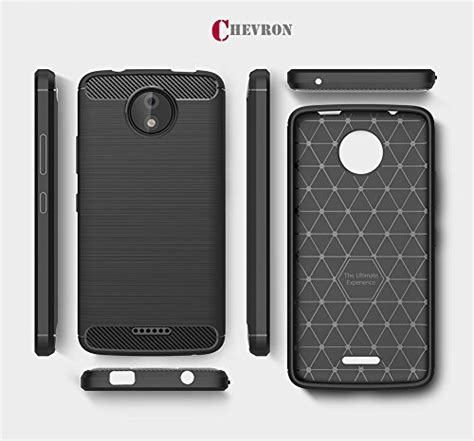Motorola Moto C Plus Armor Rugged Slim Tpu Soft Carbon chevron moto c plus back cover rugged armor shock proof tpu for motorola moto c plus