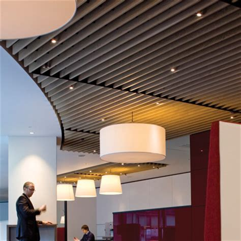 wood slat ceiling system douglas wood ceiling offers more relaxed ambience