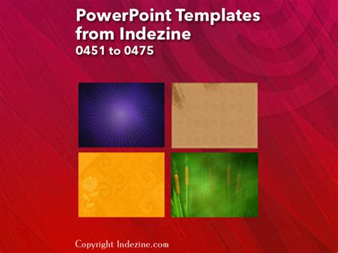 powerpoint templates from indezine 019 designs 0451 to 0475
