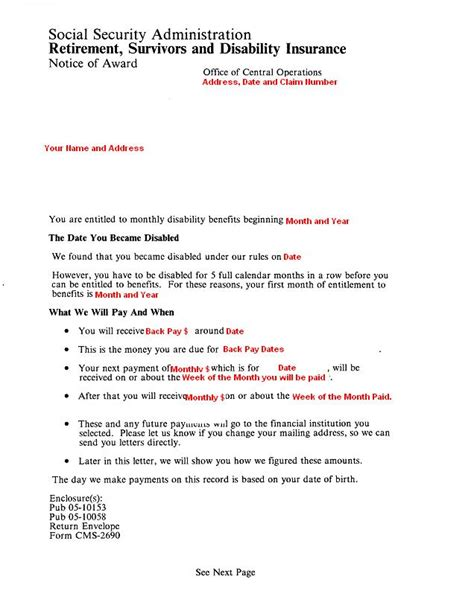Award Letter From Disability Barneybonesus Likable Cover Letters Letters And Letter