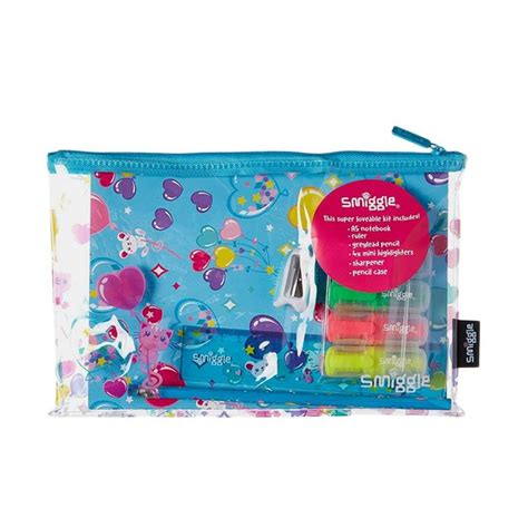 jual smiggle a5 tempat pensil gift pack blue