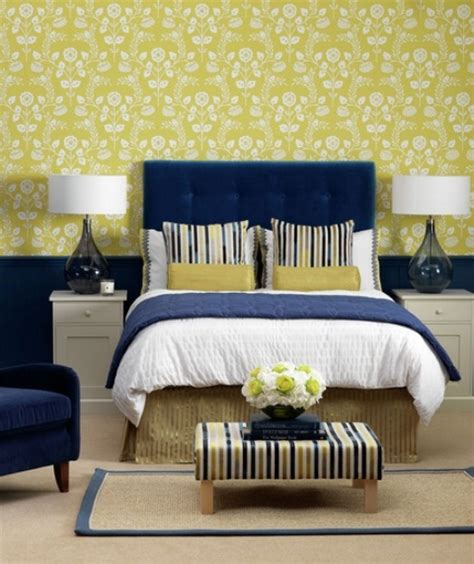 Yellow Bedroom With Blue Accents Stylish Bedroom Design Ideas With Yellow Colors And