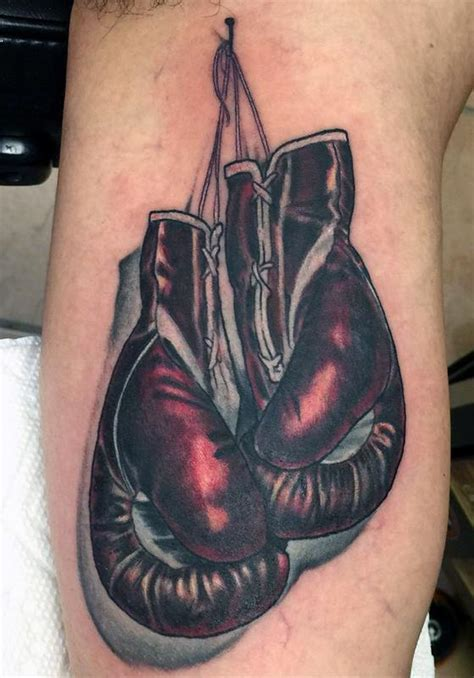 boxing glove tattoo boxing gloves by mikey har tattoonow
