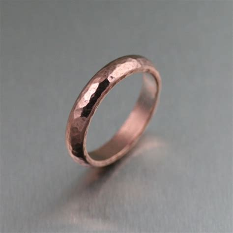 jewelry ring hammered copper ring