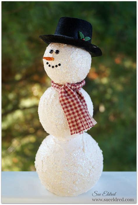 general foam snowman with wreath foam snowman family crafts