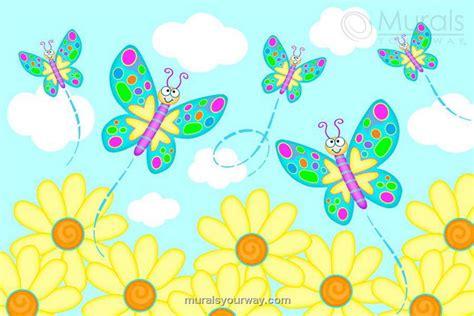 butterfly garden wall butterfly garden wall mural wallpaper mural ideas 13450