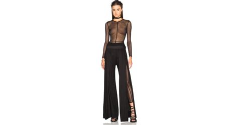 demeulemeester soft tulle catsuit in black lyst