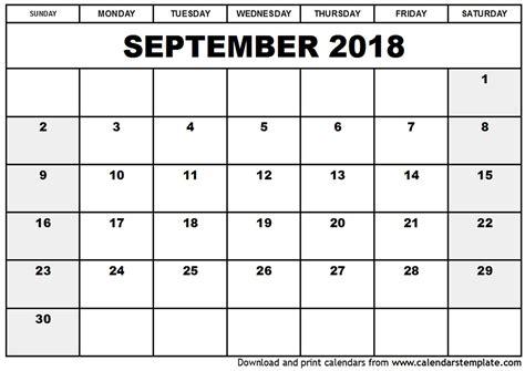 printable monthly calendar 2018 cute september 2018 calendar printable cute journalingsage com