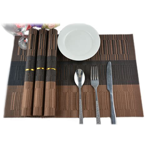 Dining Table Mat Manufacturers Aliexpress Buy Jk Home 4pcs Colorful Stripe