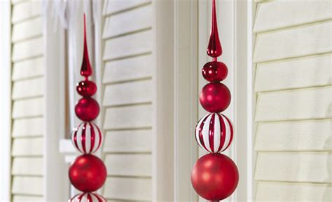 Red Bedroom Decorations by Ornamental Christmas Ball Finial Topiary Stake Adorable Home