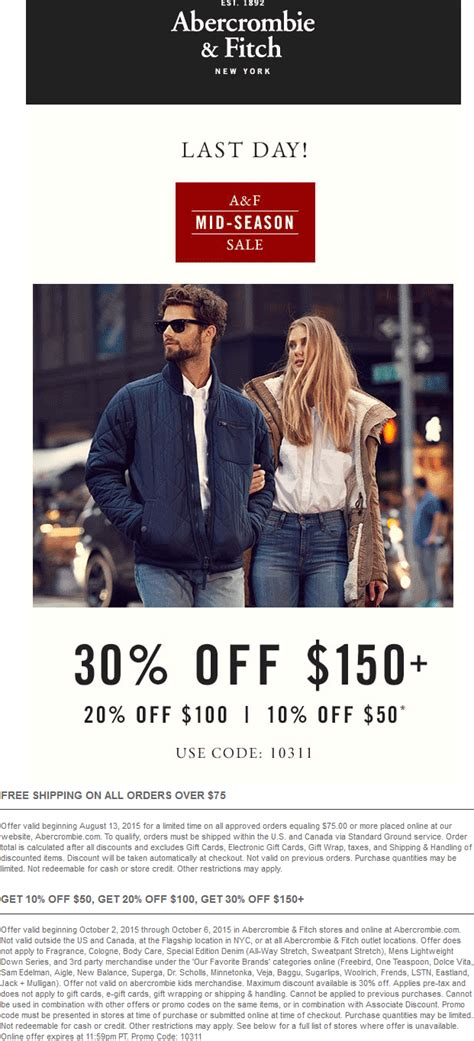 abercrombie fitch coupons 30 off w promo code for abercrombie fitch coupons 10 30 off 50 today at