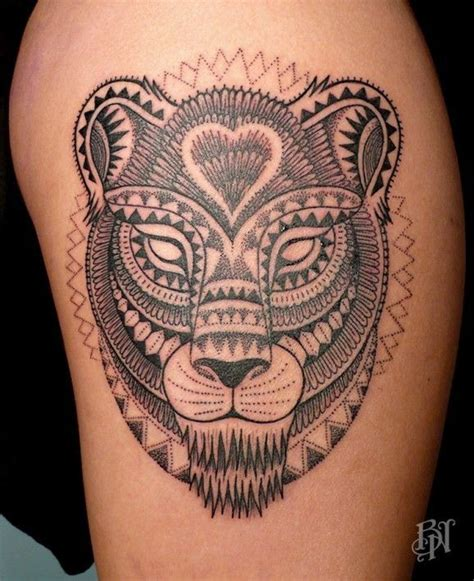 tribal lioness tattoo tribal lioness by jeykill